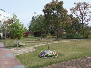 庭:四季折々の植物が楽しめ、憩いの場として活用しています。